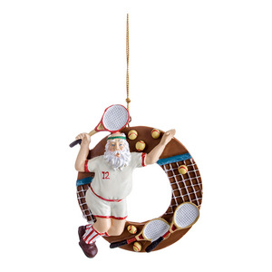 CLARKE SANTA RACQUET ORNAMENT CIRCLE