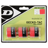 DUNLOP Gecko-Tac 3 Pack Red Tacky Tennis Overgrip