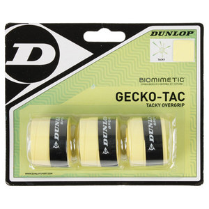 DUNLOP GECKO-TAC 3 PACK YELLOW TACKY OVERGRIP