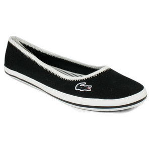LACOSTE WOMENS MARTHE 4 BLACK CASUAL SHOES
