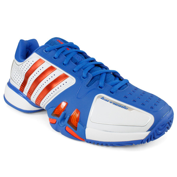 Men's Adipower Barricade 7.0 Tennis Shoes White/Prime Blue