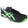 Men`s Gel Resolution 4 Black/Apple Green Tennis Shoes