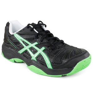 ASICS JUNIORS GEL RESOLUTION 4 GS BK/GRN SHOES