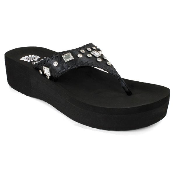 Indiana Black Sandal (Size 6 Only)