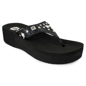 YELLOWBOX INDIANA BLACK SANDAL