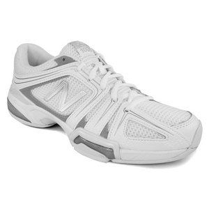 NEW BALANCE WOMENS 1005 WHITE/SILVER 2A WIDTH SHOES