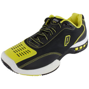 PRINCE MENS REBEL 2 LS BLACK/YELLOW TENNIS SHOE