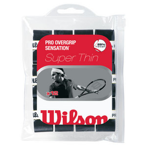 WILSON PRO OVERGRIP SENSATION 12 PACK BLACK