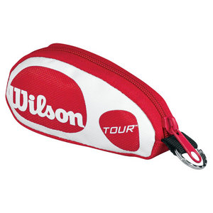 WILSON TOUR RED/WHITE TENNIS KEYCHAIN