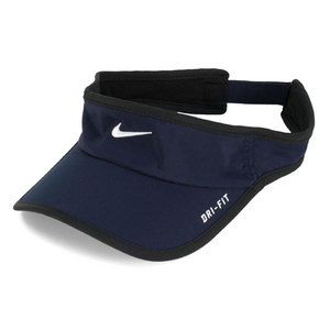 NIKE MENS FEATHER LIGHT TENNIS VISOR OBSIDIAN