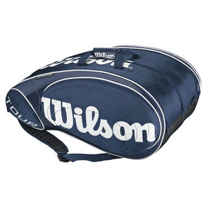 WILSON TOUR BLUE/WHITE 15 PACK TENNIS BAG