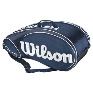 WILSON TOUR BLUE/WHITE 9 PACK TENNIS BAG