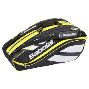 BABOLAT NEW CLUB 12 PACK BK/YL RACQUET HOLDER