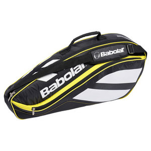 BABOLAT NEW CLUB 3 PACK BK/YL RACQUET HOLDER