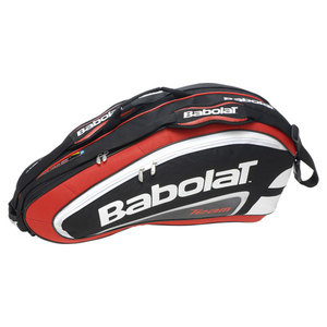 BABOLAT TEAM 6 PACK TENNIS RACQUET HOLDER RED