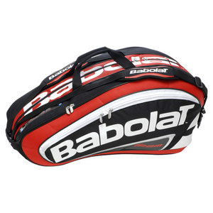 BABOLAT TEAM 12 PACK TENNIS RACQUET HOLDER RED