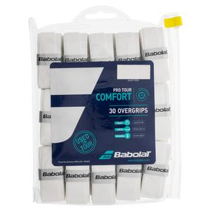 BABOLAT PRO TOUR 30 PACK WHITE TENNIS OVERGRIP