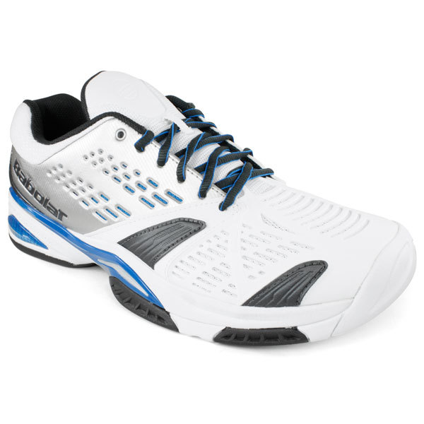 babolat s sfx white blue tennis shoes