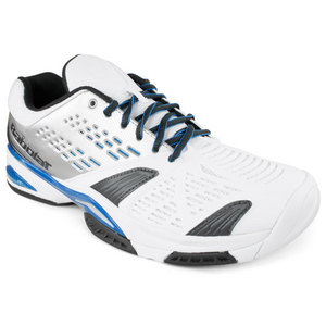BABOLAT MENS SFX WHITE/BLUE TENNIS SHOES