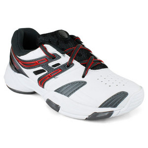 BABOLAT JUNIORS V-PRO WHITE/BLACK/RED SHOE
