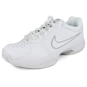 Women`s Air Court Mo V Tennis Shoes White/Metallic Silver