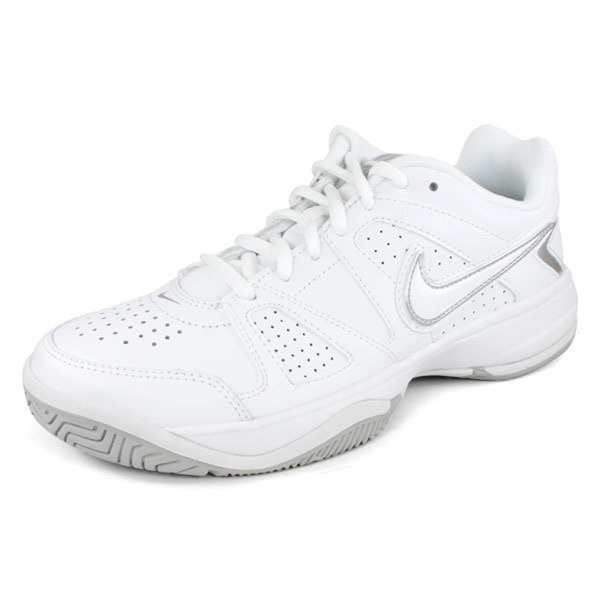 NIKE Women`s Air Cage Advantage Tennis Shoes White and Anthracite