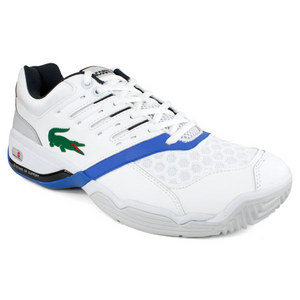 LACOSTE MENS GRAVITATE 2 WHITE/BLUE TENNIS SHOES