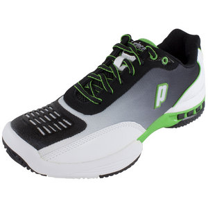 PRINCE MENS REBEL 2 LS BLACK/WHITE/GREEN SHOES