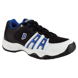 PRINCE JUNIORS T-14 BLACK/WHITE/ROYAL SHOES