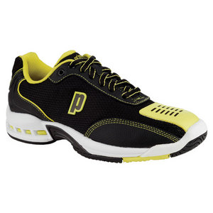 PRINCE JUNIORS REBEL 2 BLACK/YL TENNIS SHOES