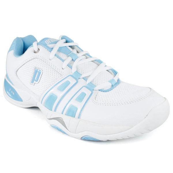 Women's T- 14 White/Light Blue Tennis Shoes