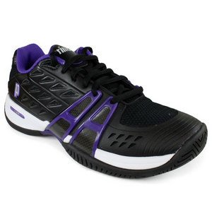 PRINCE WOMENS T-24 BLACK/PURPLE TENNIS SHOES