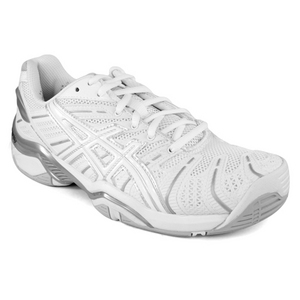 ASICS WOMENS GEL RESOLUTION 4 WH/SILVER SHOES