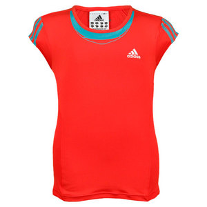 adidas GIRLS ADIPOWER BARRICADE CAP SLEEVE TOP