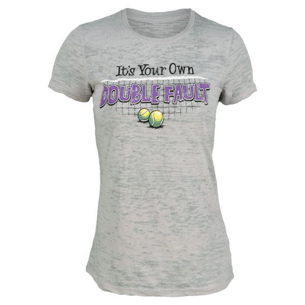 Women's It's Your Own Double Fault Silver Tennis Tee