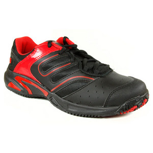 WILSON JUNIORS TOUR CONSTRUKT BK/RED SHOES