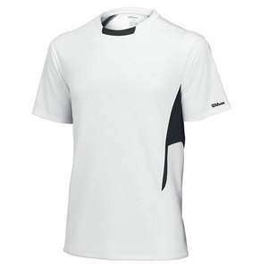 WILSON Men`s Team Short Sleeve Tennis Crew