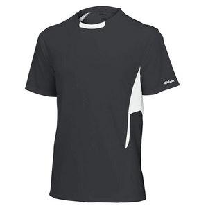 WILSON Men`s Team Short Sleeve Tennis Crew