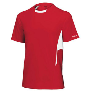 Men`s Team Short Sleeve Tennis Crew