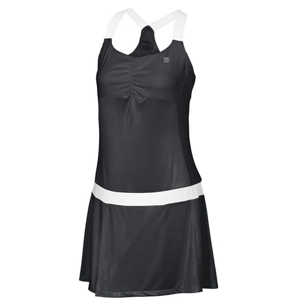Women's Team Tea Lawn Tennis Dress Black