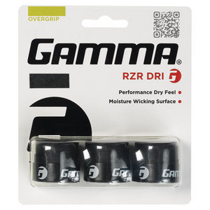 GAMMA RZR DRI BLACK TENNIS OVERGRIP