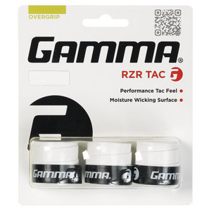 GAMMA RZR TAC TENNIS OVERGRIP 3 PACK WHITE