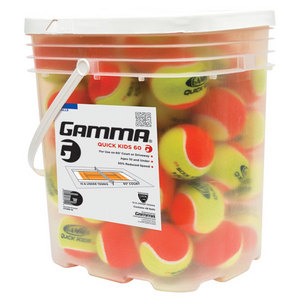GAMMA QUICK KIDS 60 BUCKET TENNIS BALLS