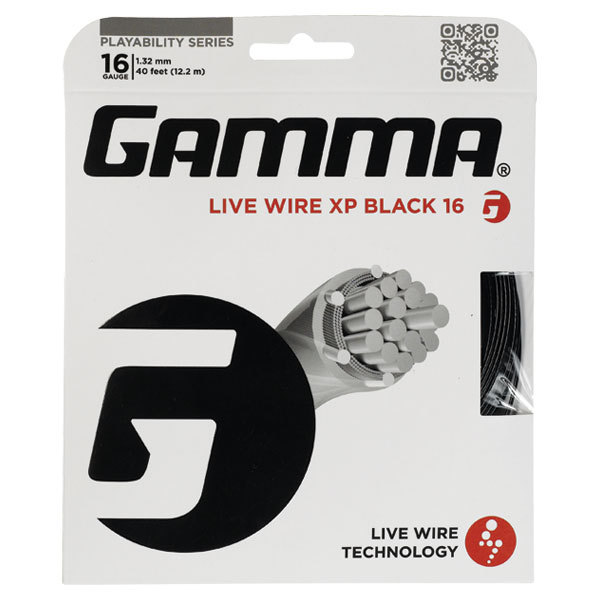 Live Wire Xp Black 16g Tennis String