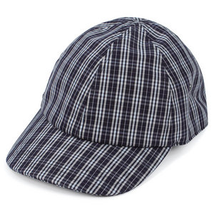 LACOSTE MEN`S COATED CHECK POPLIN CAP