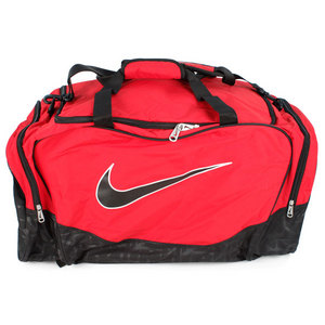 NIKE BRASILIA 5 LARGE VARS RED DUFFEL BAG