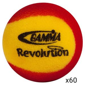 GAMMA REVOLUTION FOAM TENNIS BALLS 60 PACK