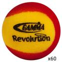 GAMMA Revolution Foam Tennis Balls Sixty Pack