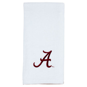 PRO VISION SPORTS UNIVERSITY OF AL EMBROIDERED WHITE TOWEL
