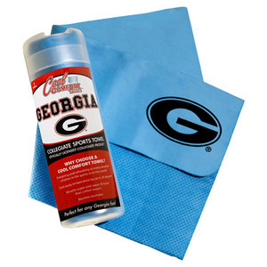 PRO VISION SPORTS UNIVERSITY OF GA COOL COMFORT BLUE TOWEL